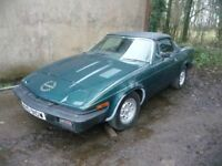 CLASSIC 1980 TRIUMPH TR7 CONVERTIBLE, 72K, FOR PARTS OR REPAIR, BRITISH RACING GREEN, FACTORY ALLOYS