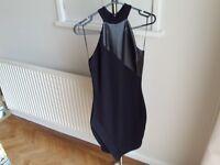 River Island size 8 sexy halter neck black bodycon dress