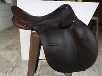 Falcon General Purpose Saddle, brown leather, 16 inch seat, used, excellent condition £50