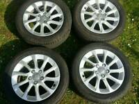 16 inch 5x112 genuine Audi A3 / Golf alloys wheels