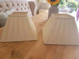 Laura Ashley cream lampshades