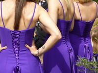 Cadburys purple dress bridesmaid prom etc size 8-10