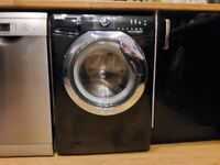 Hoover DXC58BC3 A+++ 8KG 1500rpm Washing Machine in Black & Chrome & Delay Timer