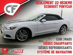 2017 Ford Mustang Ecoboost - PONY CAR - CONVERTIBLE