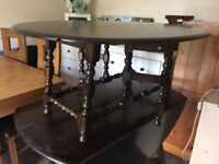 Ercol dining table and coffee table