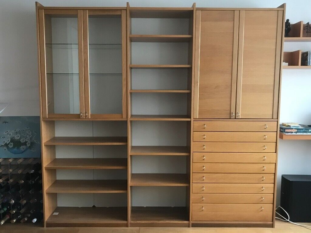Ikea Bookcase Unit Similar To Billy Oxberg With Doors And Drawers In Islington London Gumtree