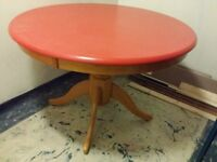 round solid wooden table for sale