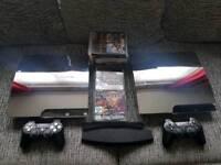 2x CUSTOM PS3 SLIM CONSOLES 500GB320GB & 50+ GAMES