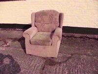 Brown Fabric armchair very comfy Delivery Available £5