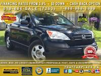 2007 Honda CR-V LX-$50/Wkly-4x4-Great Condition-Certified & etes