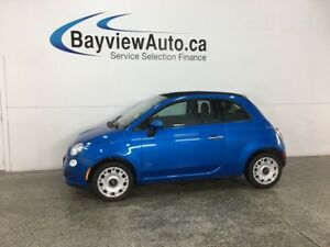2015 Fiat 500C Pop - ONLY 10,000KMS! 5SPD! CONVERTIBLE TOP! A/C!
