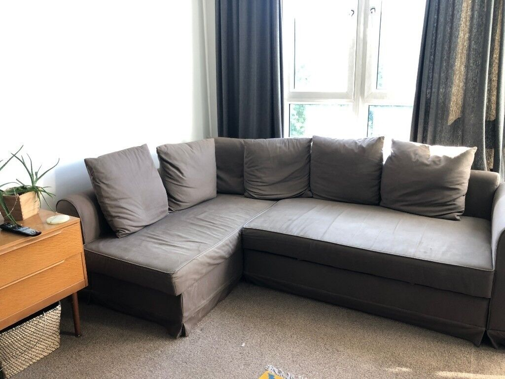 Ikea Brown Corner Sofa Bed With Storage Collection