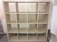 Ikea shelving unit - Kallax birch effect