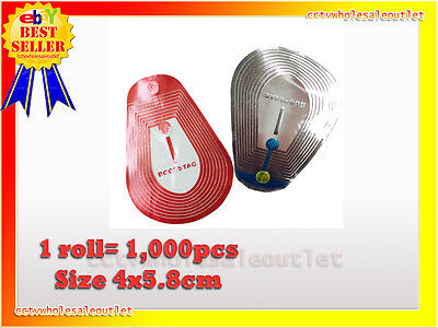1000 Pcs Checkpoint Compatible 4x5.8 Clear Soft Label Tag 8.2mhz.