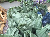 Free soil/topsoil for collection – bagged and ready to collect