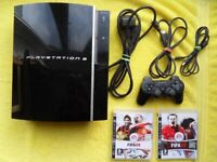 fully working - 40gb PS3 / SONY PLAYSTATION 3 CONSOLE + 2 games - cechg03