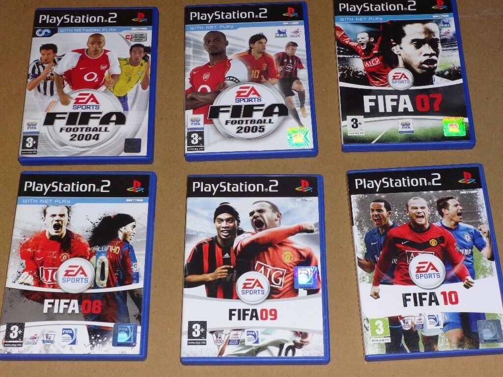 Playstation 2- 6 EA Sports Fifa Football Games
