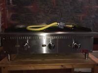 BLAZE 900mm Gas Griddle 3 Burner Heavy Duty Natural Gas