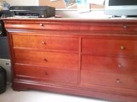 """8 Draw furniture French hand made D20"""" H33"""" 5ft 4""""approx"""
