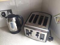 Breville stainless kettle & 4toaster