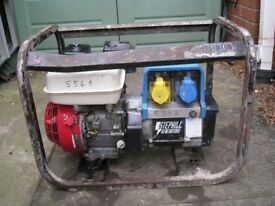 3.2kVA Stephill Petrol Generator - Honda Engine GX 200 6.5hp - No Offers