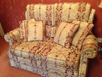 3 PIECE SUITE, 2 SEATER SOFA AND 2 ARM CHAIRS, TO SUIT A SMALL ROOM OR CONSERVATORY