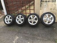 "New style Ford mondeo 16"" alloy wheels set of four, will fit transit connect van"