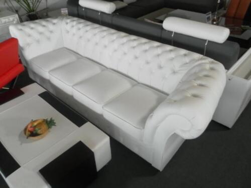 Sofa 4 Sitzer Leder chesterfield 270cm big sofa leder sofa 4 sitzer garnitur wi in