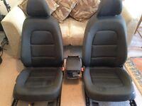 AUDI A4 B8 Black cloth seats