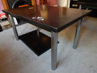 Habitat Black Dining Table with extension, 1970's, for upcycling