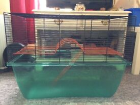 Large Gerbilarium gerbil cage - water bottle, tubes and wheel included