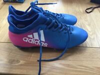 Adidas moulded stud football boots, size 9