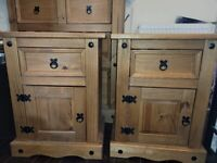 Two corona furniture bedside tables