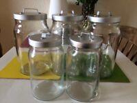 Ikea BURKEN storage jars (2 sizes)