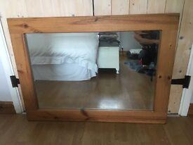 Chunky pine large mirror