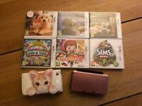 Nintendo 3ds plus 6 games