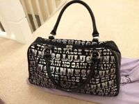 Lulu Guinness Handbag, excellent condition used once, silver and black, with dustbag