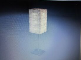IKEA ORGEL TABLE LAMP ~ BRUSHED CHROME BASE & PAPER SHADE ~ NEW & BOXED ~ £4
