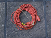 FLYMO Cable Extension 42 Feet Lawnmower Hedge Trimmer Mains Power Plug FREE DELIVERY