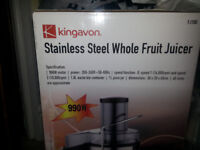 BRAND NEW Kingavon Stainless Steel Whole Fruit Juicer - still in orginal packaging