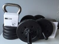 Drumbells 15kg and kettelbells 7kg