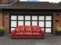 Leather Sofas (2) 3 Seater