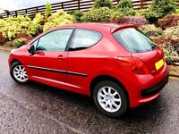 Very impressive Peugeot 207. MOT 1 Year. Only 6700 Miles Per Year.