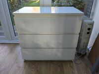 Ikea malm white chest of drawers