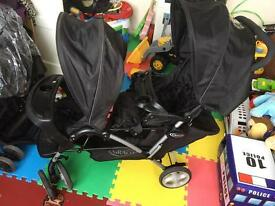 Twin pushchair graco