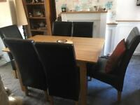 Oak dining table ? Six oak furniture land chairs