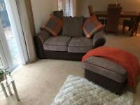 Sofa foot stool and corner suite for sale