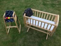 John Lewis crib & feeding chair