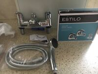 Bath taps and shower mixer also matching Basen taps