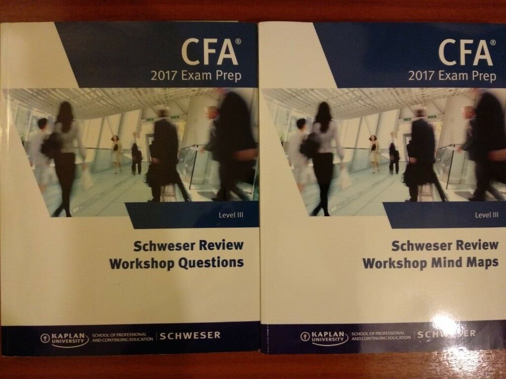 CFA Level 3 - 2017 Schweser Books + 2 Exam Volumes + Mind Maps + Quicksheet  | in Wood Green, London | Gumtree